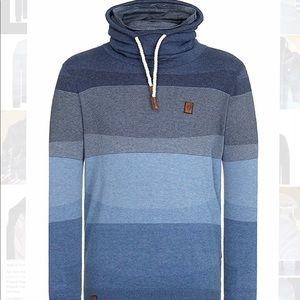 Naketano Sweaters   Mens Hoodie Sweatshirt Indigo Blue Xl